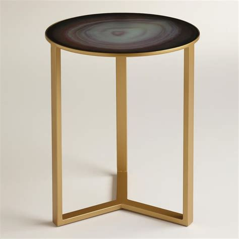 Quartz Side Table Quartz Harbin Accent Table World Market New Bedroom World Products And Need To