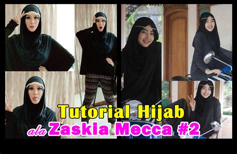 tutorial hijab turban ala zaskia tutorial hijab ala zaskia mecca 2