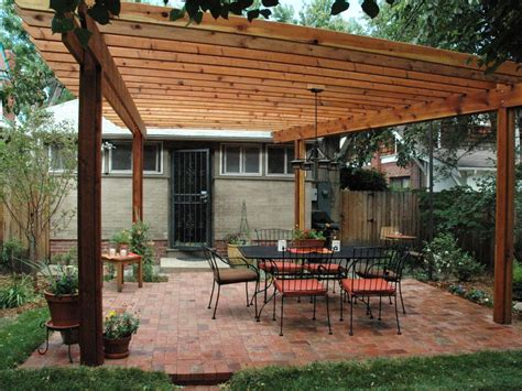 Wood Pergola Attached To House Plans