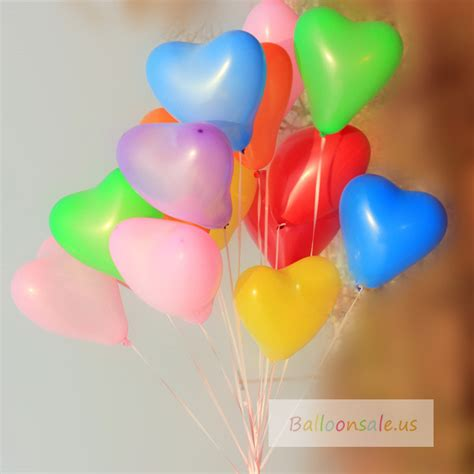Cheap heart latex balloons 12 inch 7 colors heart shaped balloons assortment 70 ct for sale on
