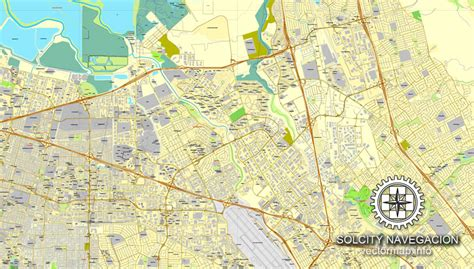 san jose california on us map san jose california us printable vector city plan