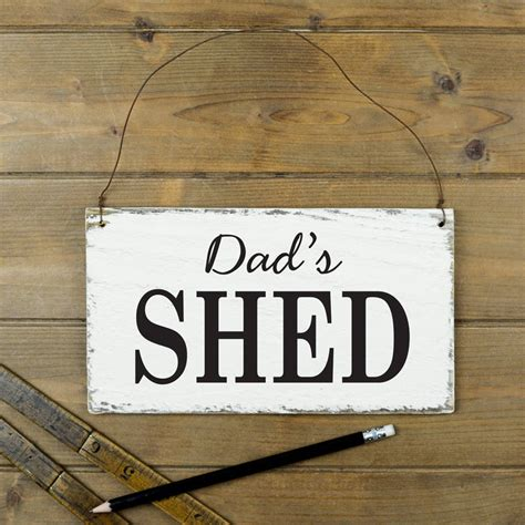 Shed Sign by Personalised Shed Sign By Delightful Living