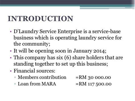 sle business plan of laundry shop d laundry service enterprise ppt