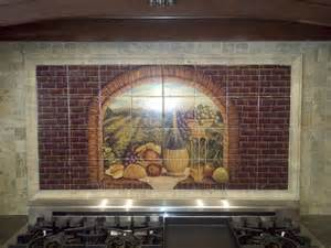 Tile Mural Kitchen Backsplash - decorative tile backsplash kitchen tile ideas tuscan