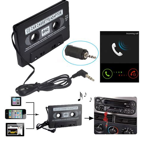 audio cassette player car audio cassette aux adapter converter 3 5mm