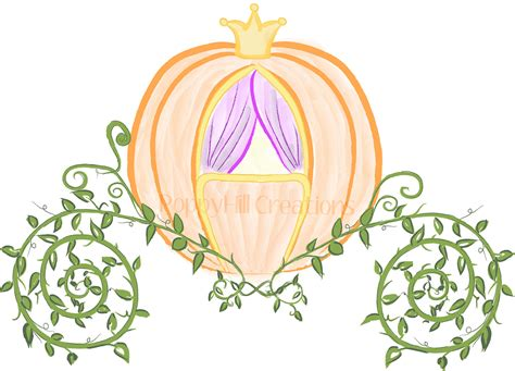 cinderella pumpkin carriage instant cinderella s pumpkin coach digital clip