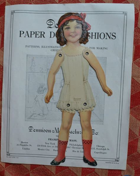 jointed doll clothes patterns c 1920s dennison jointed paper doll book with patterns