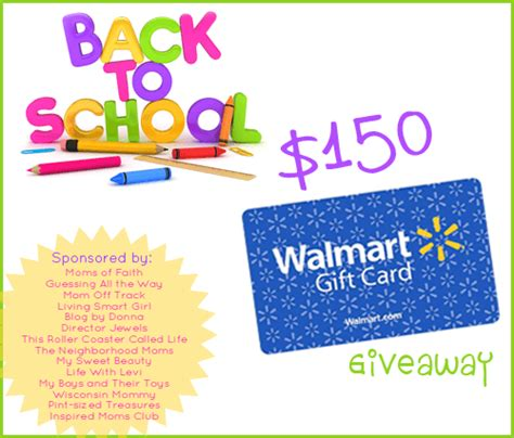 Walmart E Gift Cards Canada - back to school 150 walmart gift card giveaway the neighborhood moms