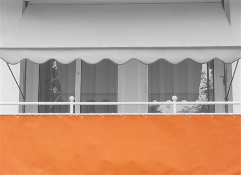 markisen paradies gutschein balkonbespannung design uni orange pe h 246 he 90 cm