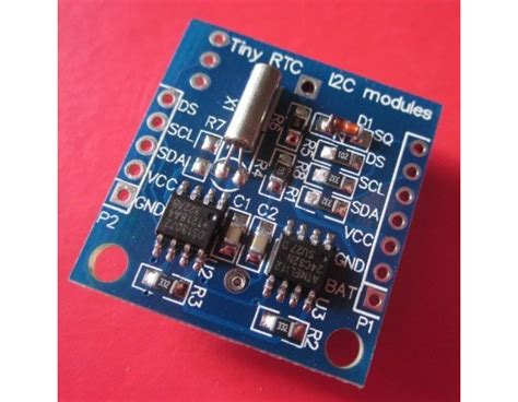 rtc ic ds module including coin cell battery fabto