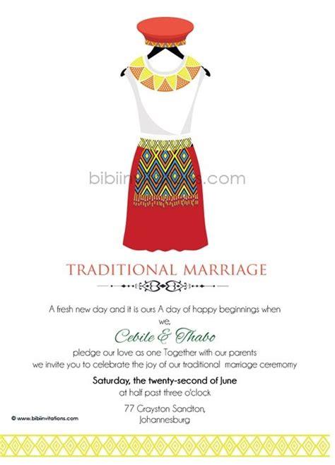 Zulu Wedding Invitation Card by Buhle Zulu Umembeso Tradtional Wedding Invitation Zulu