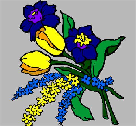 disegni di mazzi di fiori disegno mazzo di fiori colorato da utente non registrato
