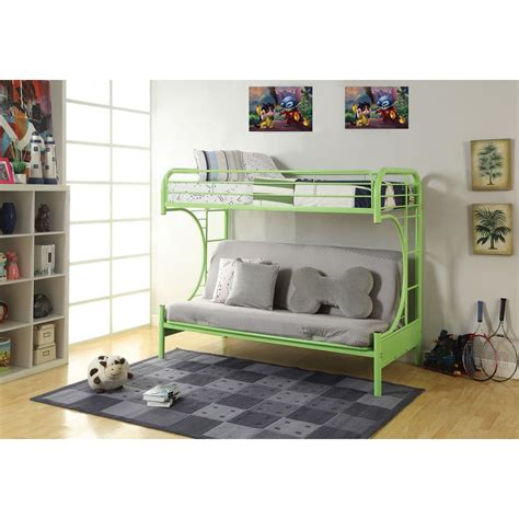 Acme Eclipse Bunk Bed Acme Furniture Eclipse Metal Bunk Bed 02091w Gr The Home Depot