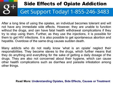 Opiate Detox Risks by Side Effects Of Opiate Addiction