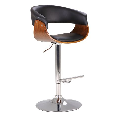 Contemporary Swivel Adjustable Bar Stool With Arm Rests by Modern Swivel Adjustable Barstool With Armrests