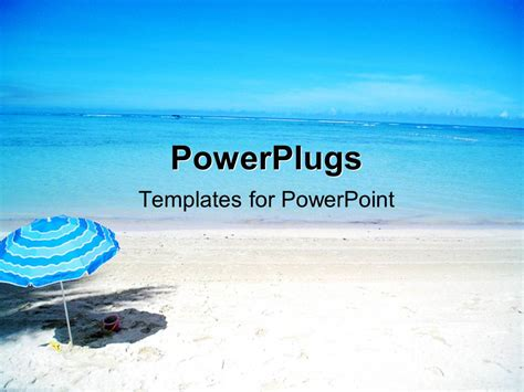themes for powerpoint seaside powerpoint template scenery of beautiful beach with cute