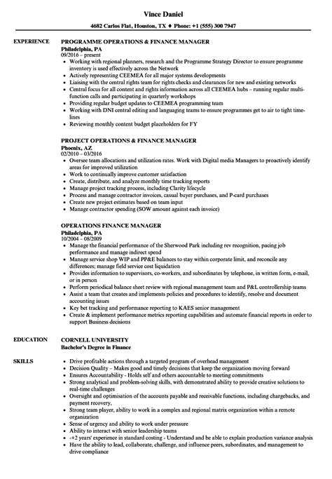 outstanding finance manager resume format resume format for finance manager sle resume finance