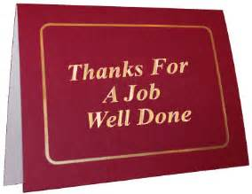 Thank You For A Well Done by Thank You Gold Foil Ministry Greetings Christian Cards Church Postcards Visitor Cards