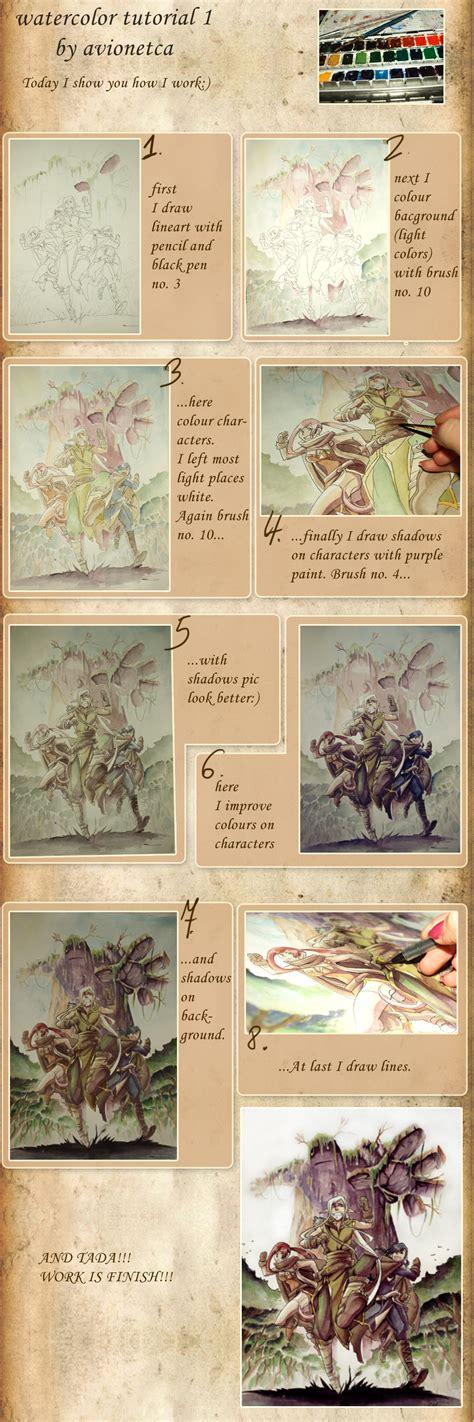 watercolor tutorial download watercolor tutorial 1 by avionetca on deviantart