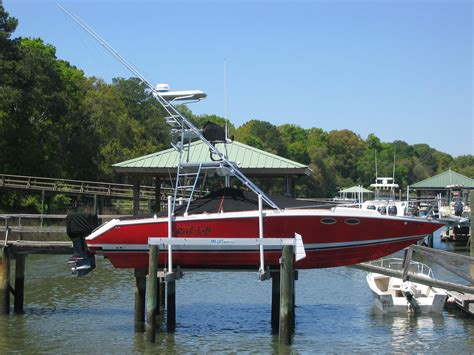 palmetto boat center fishing tournament 33 donzi center console with tower the hull truth