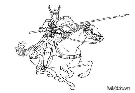 coloring pages of knights and horses coloring pages hellokids