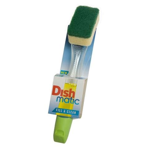 Clean Matic Heavy Duty Brush Hijau dishmatic washing up brush plus heavy duty sponge 1801 1