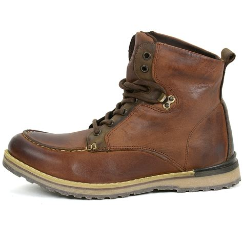 gbx shoes gbx mens draft boots genuine leather moc toe ankle high