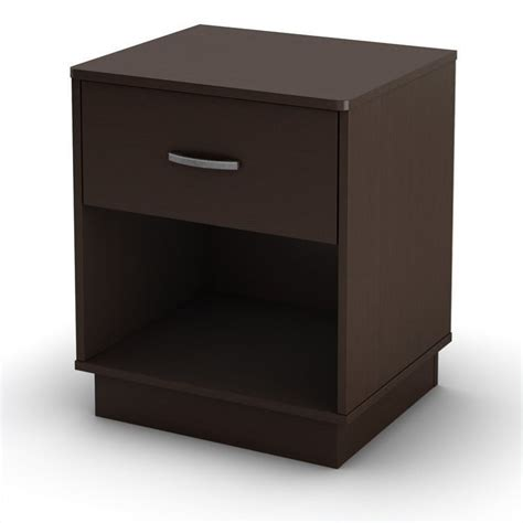 L For Nightstand South Shore Logik Nightstand In Chocolate Finish 3359062