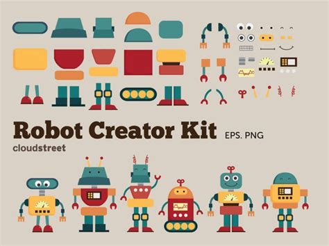 clip creator 20 robots creator kit clip for personal and