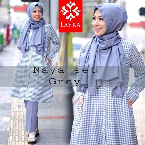 Baju Set Naya naya set by layra jual busana muslim