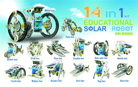 Owi 14 In 1 Solar Robot owi 14 in 1 educational solar robot kit owi msk615