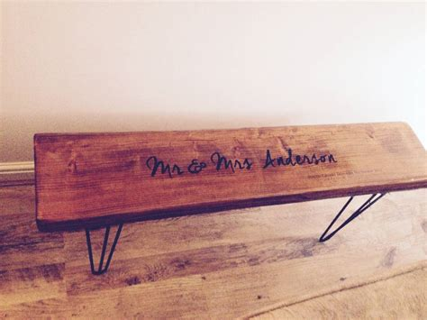 industrial style bench personalised retro industrial style bench by daughters of