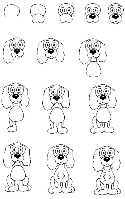 how to draw dogs how to draw dogs drawing tutorials drawing how to draw dogs and puppies drawing