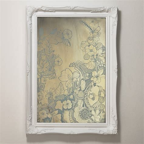Handcrafted Mirrors - illustrated antique mirror by crafted mirrors