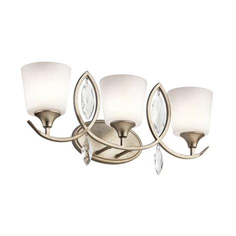 shop kichler lighting 3 light casilda sterling gold