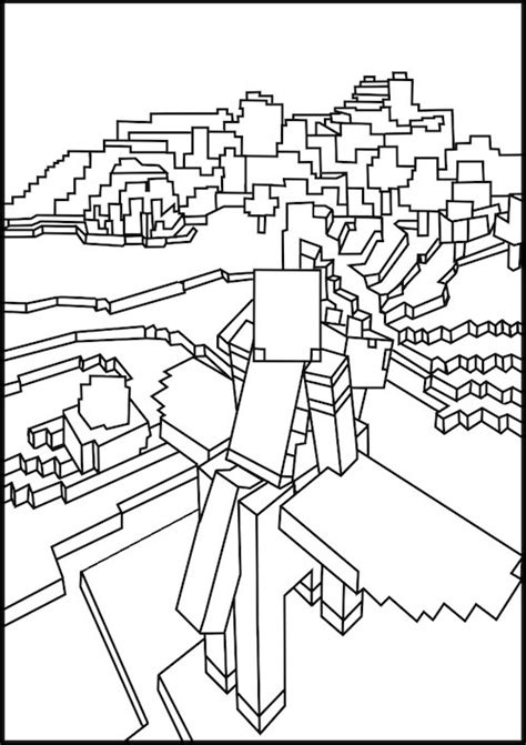 coloring pages of ender dragon flying on pegasus minecraft coloring ebook 1 pinterest