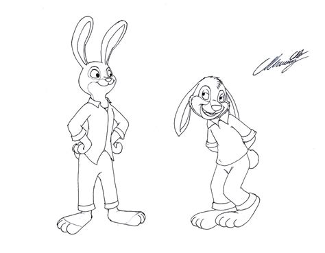coloring pages of brer rabbit the brer rabbit meets judy hopps by markdekabreak on