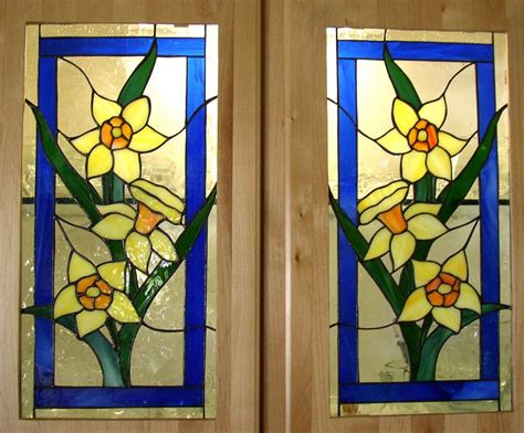 Stained Glass Cabinet Door Patterns Kelley Studios Kitchen Cabinets