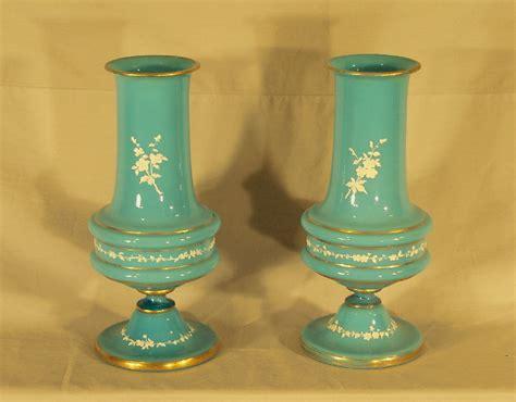 Antique Bristol Blue Glass Vase by 7889 Pair Blue Bristol Glass Vases C1880 For Sale Antiques Classifieds