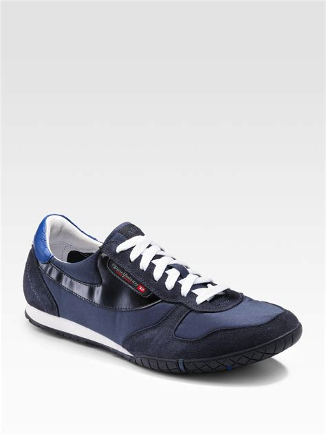 s diesel sneakers lyst diesel claw spin sneakers in blue for