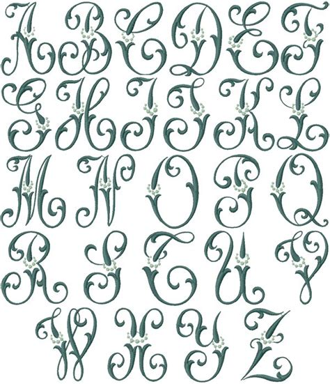 embroidery design fonts caroline machine embroidery font monograms linens