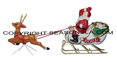 general foam plastic reindeer with antlers santa sled sleigh and reindeer decoration s by general foam plastics corp