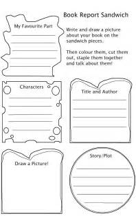 Sandwich Book Report Template Free Mango Chutney Craft Y Project Useful Worksheets
