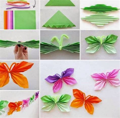 How To Make Paper Decorations - how to make paper butterfly creative ideas