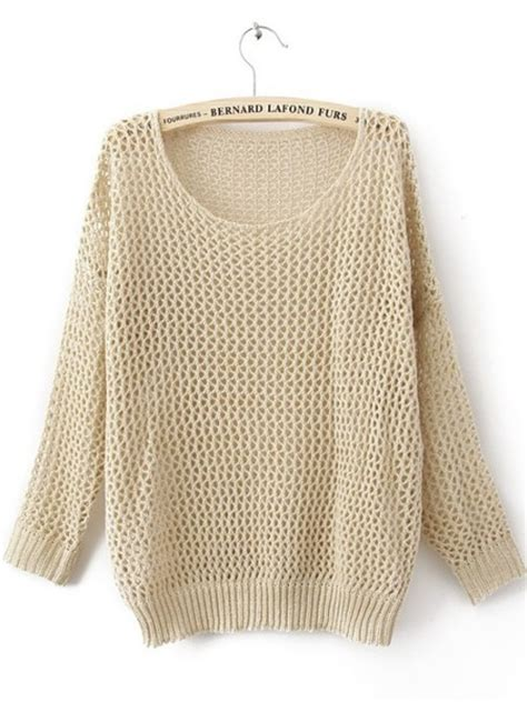 open stitch sweater beige sleeve open stitch sweaters with metallic yarn