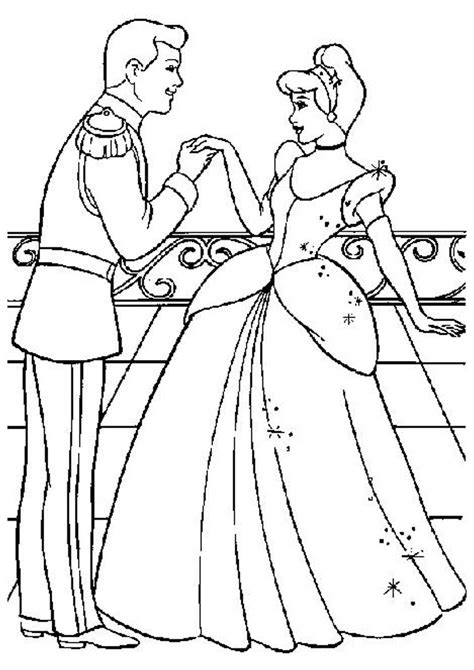 cinderella ballet coloring pages disney princess and prince coloring pages