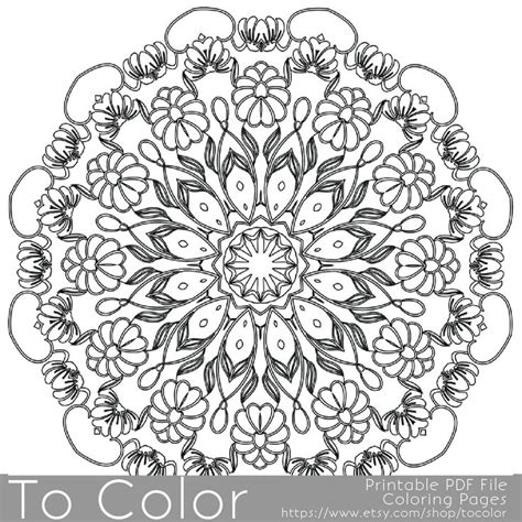 mandala coloring book pens intricate printable coloring pages for adults gel pens