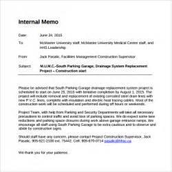 staff memo template sle memo template 7 free documents