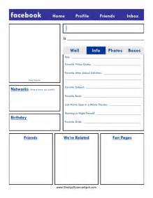 fakebook template blank page
