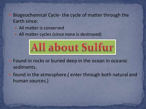 state of matter at room temperature for sulfur sulfur cycle
